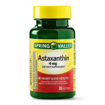 Spring Valley Astaxanthin, Heart & Eye Health, 4 mg, 30 softgels - $15.99