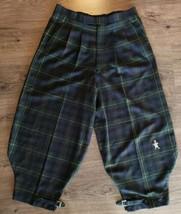 Vtg T Barry Knicker Co Golf Knickers Pants Womens 10 Green Tartan Plaid ... - $84.13