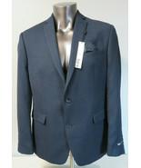 Mens BAR III Black Blue Sport Coat Jacket Size 44S New Slim Fit Dual Vent - $49.49