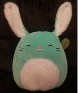 "Squishmallow 8"" Sammy The Bunny W/Fur on Belly/Ears Plush Easter Basket ... - $17.81"