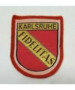 KARLSRUHE FIDELITAS Early German Assocation Football Club Souvenir Felt ... - $5.99
