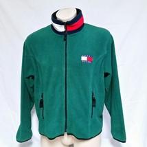 VTG 90s Tommy Hilfiger Fleece Jacket Flag Colorblock Coat Spell Out Lotu... - $89.99
