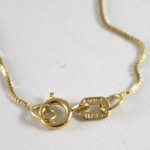 18K YELLOW GOLD CHAIN NECKLACE 0.5 mm MINI VENETIAN LINK 24 INCHES MADE IN ITALY image 3