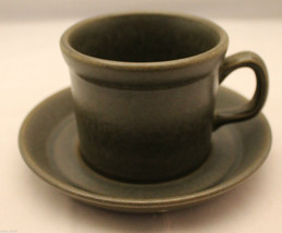 Vintage Wedgwood Sterling Khaki Coffee Tea Mug Cup with  Saucer England ... - $30.12