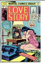 Our Love Story #34 1975-Marvel-John Romita-Buscema-lingerie-Spiderman-VF - $126.10