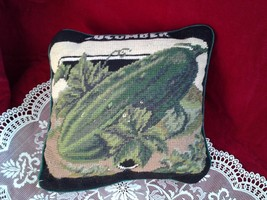 Collectible Cross Stitch Decorative Pillow Imperial Elegance Green - $37.59