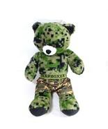 Build A Bear Military Camo Print Bear and Boxers Boys Girls Green 17 inch - $19.79