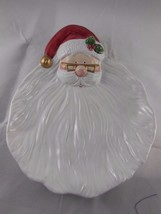 Vintage Fitz & Floyd Santa Claus Head Cookie Tray Plate Omnibus 1995 - $14.84