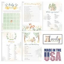 Lovely Celebrations: Woodland Themed Baby Shower Games Pack: Bingo, Matc... - ₨2,181.94 INR