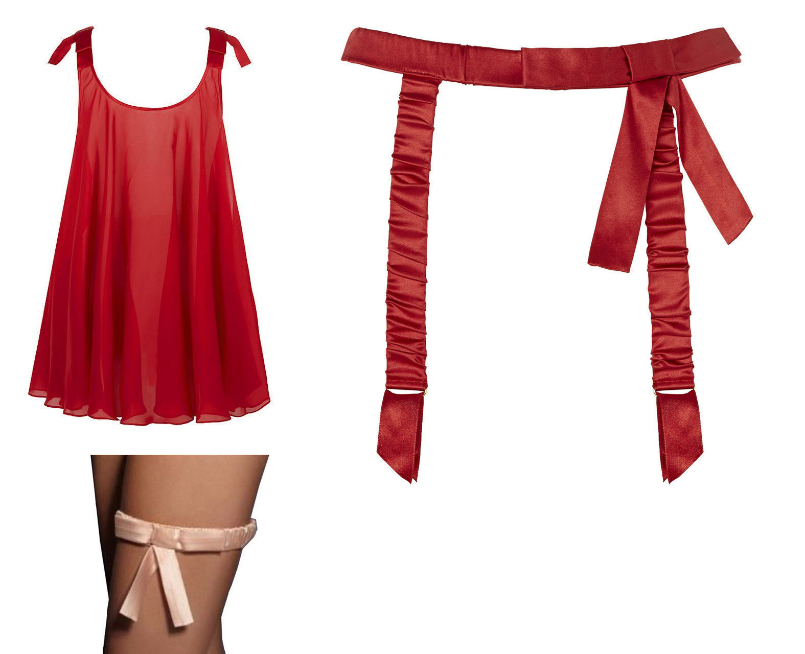 S l1600. S l1600. Previous. AGENT PROVOCATEUR Birthday Suit Silk Scarlet  Red Babydoll or Silk ... 63ab74983
