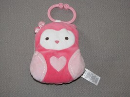 CARTERS CHILD OF MINE SOFT CRINKLE PINK HEART OWL BOOK ACTIVITY TOY  STU... - $24.74