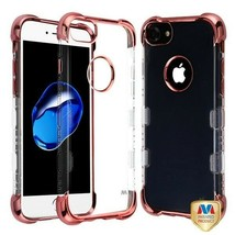 For APPLE iPhone 8/7 Rose Gold Plating TUFF Klarity Lux Candy Skin Cover... - $11.07