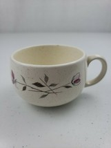 "Vtg Franciscan Earthenware Duet 2 Pink Flowers Flat Cup Speckled 3 1/2""H 2 1/4""W - $5.00"