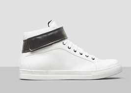 $160.00 kenneth Cole DOUBLE POINT II HIGH-TOP SNEAKER - WHITE, Size 10.5 - $68.31