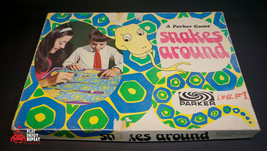 Vintage 1960s Serpientes Around Parker Brothers Juego de Mesa Rápido - £13.91 GBP