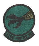 USAF AIR FORCE 33RD TACTICAL FIGHTER SQUADRON SUBDUED EMBROIDERED JACKET... - $23.74