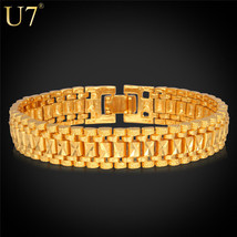 Fashion Women Bracelet 18K Gold Real Gold /Platinum Plated 19cm 12MM - $56.92