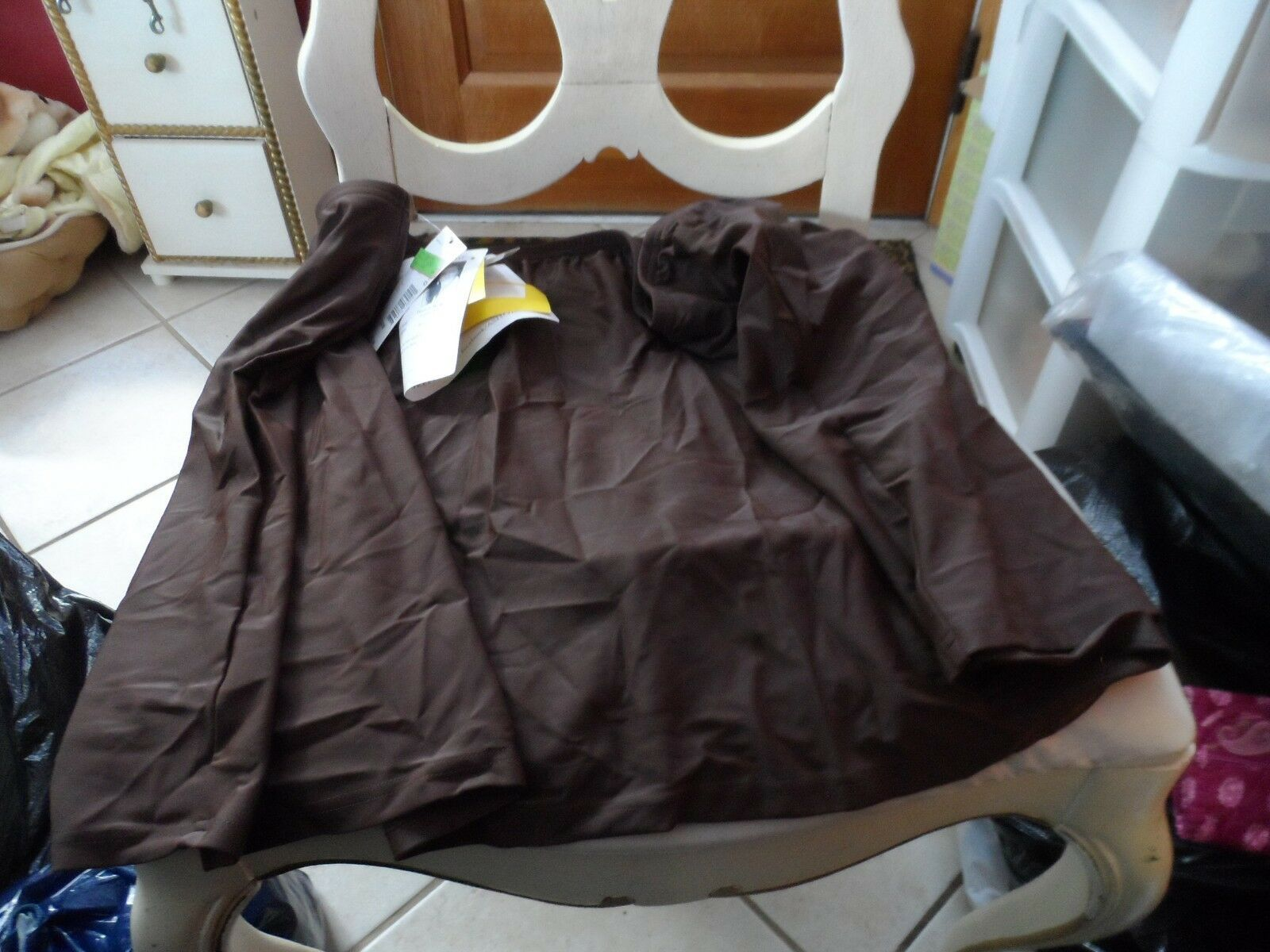 Woman's brown swim skirt size 24W from A Shore Fit NWT