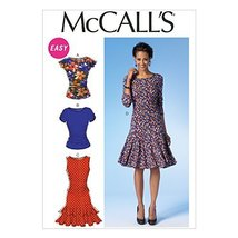McCall Pattern Company M7046A50 Misses' Tops and Dresses Sewing Template, A5 (6- - $15.68