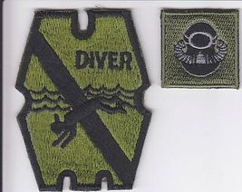 Philippines Navy Diver Underwater Demlition Team UDT Patch & Diver Badge acu 3.7 - $14.99