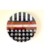 "Patriotic Melamine Dinner Plates Flag Design 10.25"" Set of 4 Stars and S... - $29.82"