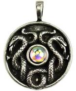Celtic Visions Nathair Amulet (Wisdom, USA Made, Pewter, Includes Cord) - $8.95