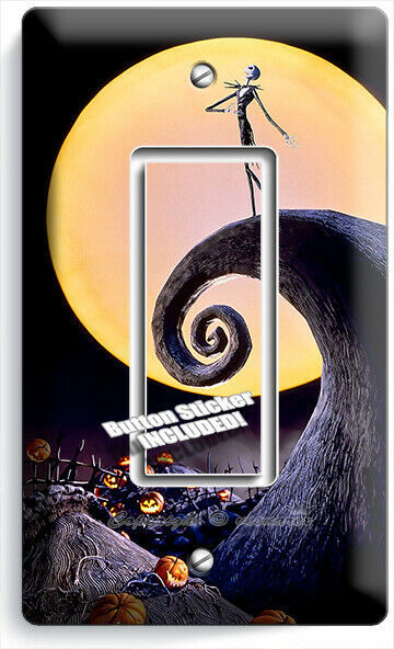 NIGHTMARE BEFORE CHRISTMAS JACK SKELLINGTON 1 GFCI LIGHT SWITCH PLATE ROOM DECOR