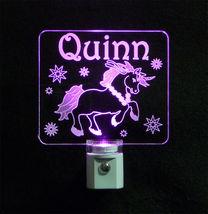 """Personalized Unicorn Night Light - LED - Girls Lamp 3/8"""" Acrylc image 5"""