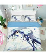 3D Long-haired Girl P09 Japan Anime Bed Pillowcases Quilt Duvet Cover Acmy - $53.81+