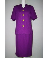 Pablo Collection Purple Skirt & Jacket Size Petite 14 - $12.99