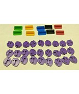 Mall Madness Milton Bradley 2004 Token Holders and Check Markers - $12.73