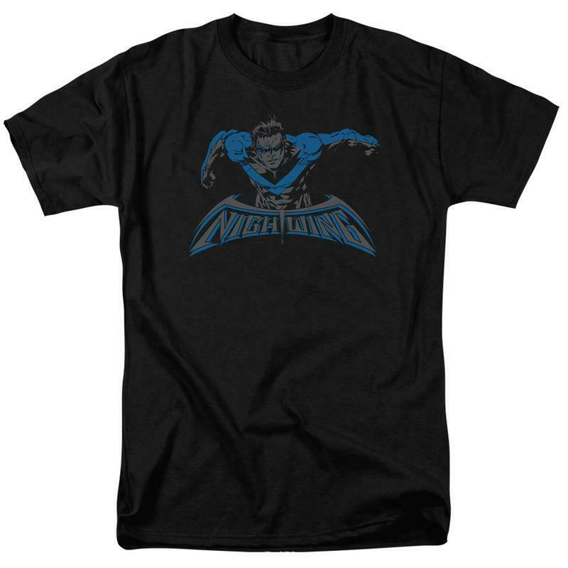 Nightwing t-shirt DC American comic books Superman hero graphic tee BM2468