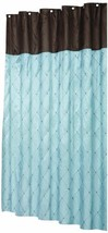 Carnation Home Fashions Diamond Patterned Embroidered Shower Curtain, 70... - $26.15