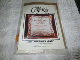 GOLDEN BEE for Better Homes ALL AMERICAN LOVER Stamped Cross Stitch KIT ... - $25.00