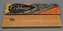Vintage Cardinal's Wooden Cribbage Board - $19.79