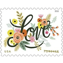 Love Flourishes Sheet of 20 Forever USPS First Class Postage Stamps Wedd... - $17.86
