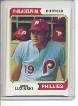 (b-31) 1974 Topps #360: Greg Luzinski - Factory Error - Off-Set Angled Cut - $9.00