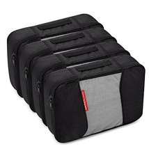 4 Medium Packing Cubes Travel Luggage Organizers Black - $536,21 MXN