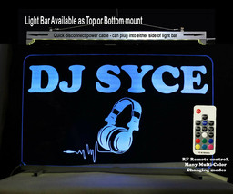DJ Booth sign, Personalized LED Sign, Man Cave Ideas - Lighted Sign - DJ... - $96.03+