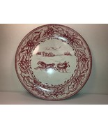 "Restoration Hardware Tin Plate Sleigh Horses Ride Christmas Red 10"" - $7.92"