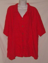 Faded Glory Shirt Fuscia Short Sleeve Pullover Polyester Plus Size 4X 26... - $6.79