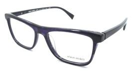 Alain Mikli Rx Eyeglasses Frames A03083 003 54-17-145 Chevron Blue Striped Black - $105.06