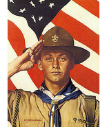 A Job To Do 22x30 Boy Scout Art Print by Norman Rockwell - $64.33
