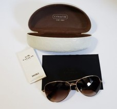 Coach Jaclyn Aviator Rose Tinted Sunglasses with Case HC7028   - $54.40