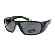 Locs Hardcore Sunglasses Gangster Logo Metal Tip Wrap Black - $7.87