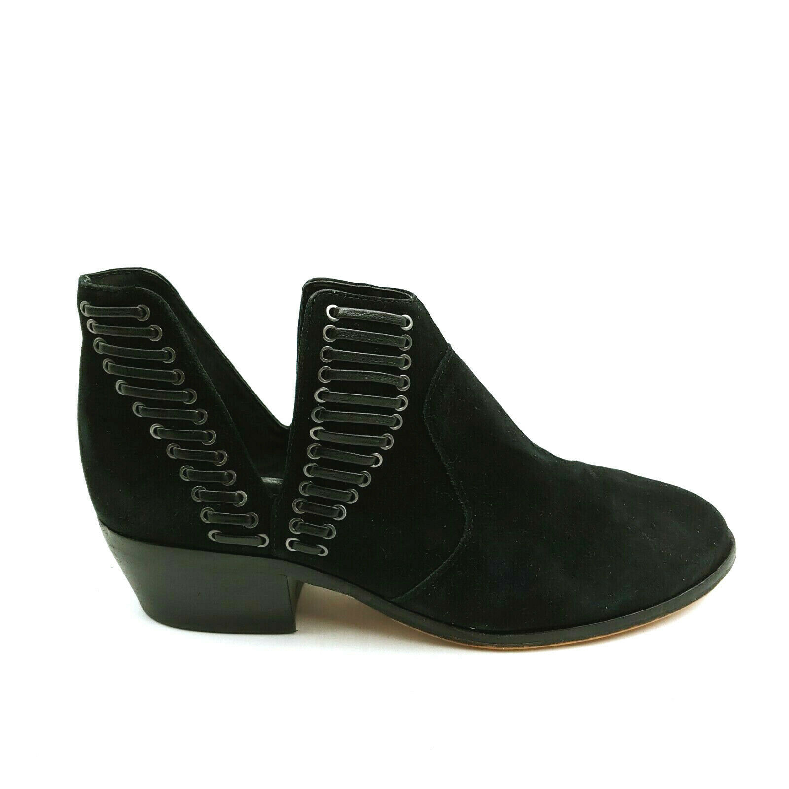 Primary image for Vince Camuto Womans Pevista Ankle Bootie Black Suede Cushioned Insole Sz 9.5W