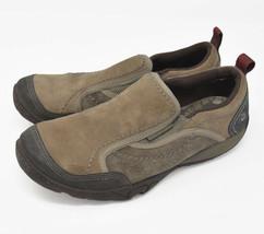 Merrell Boulder Women's Sz 7.5 EU 38 Beige Suede Slip On Moc Loafers J55834 - $24.95