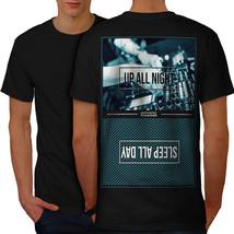 Party Life Shirt Up All Night Men T-shirt Back - $12.99+