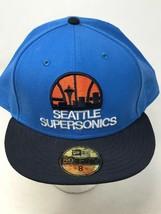 Seattle SuperSonics Air Force Blue Sz 8 Hardwood Classics 59 Fifty New E... - $39.55