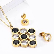 OUFEI Stainless Steel Jewelry Woman Vogue 2020 Charm Necklace Earrings Set Fine  - $12.91